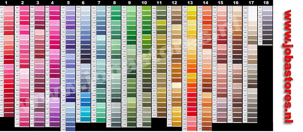 DMC Kleuren Kleurenkaart JobaStores