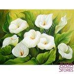 Diamond Painting Witte Bloemen 20x25cm