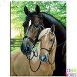 """Diamond Painting """"JobaStores®"""" Paarden - volledig - 30x40cm"""