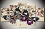 """Diamond Painting """"JobaStores®"""" Vlinders 5 luiks - volledig - 100x55cm"""