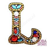 Diamond Painting Sleutelhanger Alfabet Letter L