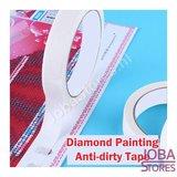 Diamond Painting Tape tegen vieze randjes (10m x 1,5cm)_