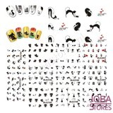 Nagel Sticker Set Katjes (220 stickers)_