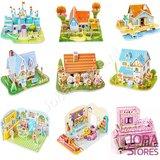 Miniatuur Zelfbouw Huisje (3D Puzzel) voor kinderen 03 (Flower Store)_