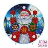 Diamond Painting Lamp Kerst 07 Kerstman