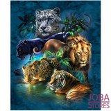 Diamond Painting Big Cats 50x60cm_