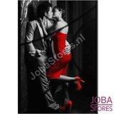 OP=OP Diamond Painting Black/Red Couple 30x40cm_