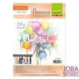 "Aquarelpapier ""Florence"" ivoor smooth 200g A4 (12 stuks)"