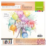 "Aquarelpapier ""Florence"" ivoor smooth 200g 30,5x30,5 (50 stuks)_"