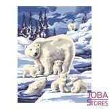 """Schilderen op nummer """"Sequin Art"""" Junior Winterdieren (2 stuks)_"""