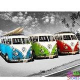 Diamond Painting Volkswagen Busjes 40x50cm - Rond_