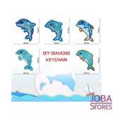 Diamond Painting Sleutelhanger Set Dolfijnen (5 stuks)_