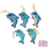 Diamond Painting Sleutelhanger Set Dolfijnen (5 stuks)