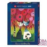 Rosina Wachtmeister Puzzel Poppy Canopy met goudfolie (1000 stukjes, 50x70cm)