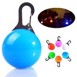 Led Lichtbol met clip voor honden halsband (Blauw)