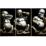 Diamond Painting Horen-Zien-Zwijgen Buddha 60x40cm_