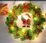 Diamond Painting Kerst Krans met verlichting 001_