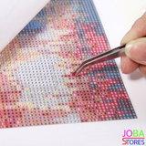 """Diamond Painting """"JobaStores®"""" Gekleurde Koe - volledig - 40x40cm"""