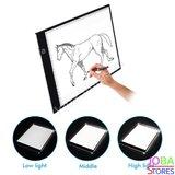 Diamond Painting A4 Ledlamp (Lightpad) Deluxe dimbaar (3 standen) + standaard_