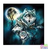 Diamond Painting Wolven Maan 50x50cm_