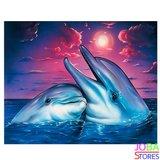 Diamond Painting Dolfijnen 40x30cm_