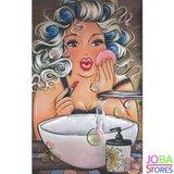 Diamond Painting Dikke Dames 17 30x45cm_