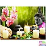 OP=OP Diamond Painting Buddha Kaarsen 40x30cm_