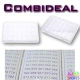 Diamond Painting Sorteerdoos Combideal 28 slots (2 stuks + DMC stickers)_