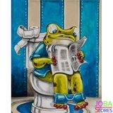 Diamond Painting Toilet Kikker 01 30x40cm - rond_