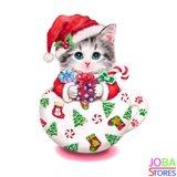 OP=OP Diamond Painting Kitten Kerst 30x30cm_