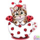 OP=OP Diamond Painting Kitten Rood 30x30cm_