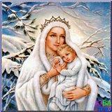 Diamond Painting Moeder Maria 30x30cm_