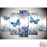 """Diamond Painting """"JobaStores®"""" Blauwe Vlinders - volledig - 75x40cm"""
