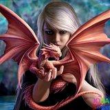 OP=OP Diamond Painting Dragonlady 30x30cm_