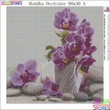 Diamond Painting Buddha Orchidee 90x30cm_