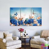 Diamond Painting Vlinders 3 luiks 60x25cm_