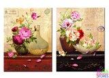 Diamond Painting Vintage Bloemen 40x25cm_