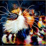 OP=OP Diamond Painting Crazy Cats 07 30x30cm_