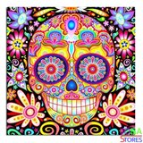 "Diamond Painting ""JobaStores®"" Colorful Skull 30x30 (FULL)"