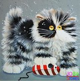 OP=OP Diamond Painting Crazy Cats 03 20x20cm_