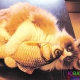 OP=OP Catnip Vis 07 20cm (2 stuks) Kattenspeelgoed met kattenkruid_