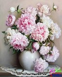 Schilderen op nummer Roze Bloemen - 40x50cm_