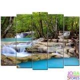 Diamond Painting Waterval 5 luiks 75x40cm_