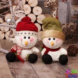 OP=OP Pluche Sneeuwpop Rood_