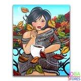 Diamond Painting Dikke Dames 21 30x40cm_