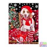 Diamond Painting Kerst Hond 30x40cm