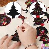 Kras Tekeningen Kerst Hangers (24 delig)_