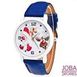 Kerst Horloge 02 Blauw_