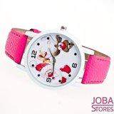 Kerst Horloge 02 Roze_