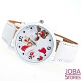 Kerst Horloge 02 Wit_